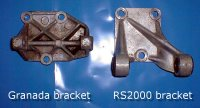 Granada and RS alternator brackets.  Click to enlarge