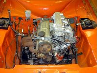 2.0i pinto in Escort engine bay.  Click to enlarge