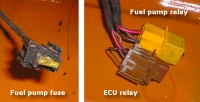 ECU and fuel pump relays